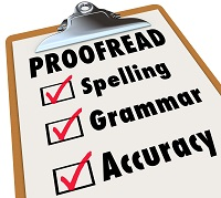 Proofread Clipboard Checklist Spelling Grammar Accuracy