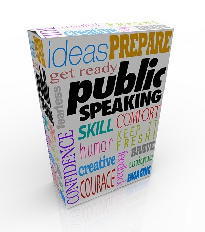 Public Speaking Words Product Package Box Training Help Advice