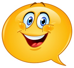 Speech bubble emoticon